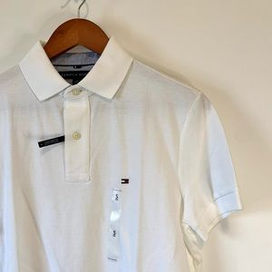 NWT Tommy Hilfiger White Custom Fit Polo Tee